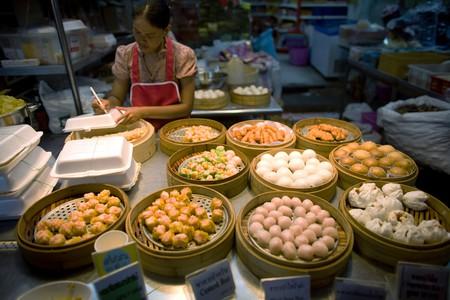 Dim sum vendor in Chinatown, Bangkok