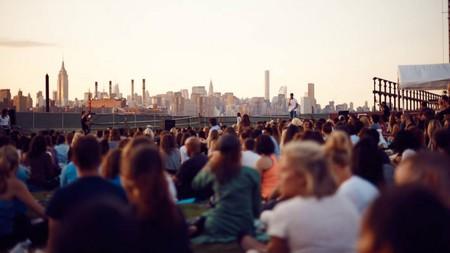 A mass meditation at Brooklyn Grange