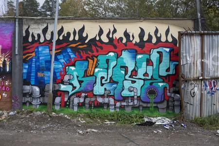Pipe artwork at the Snösätra Grafitti exhibit.
