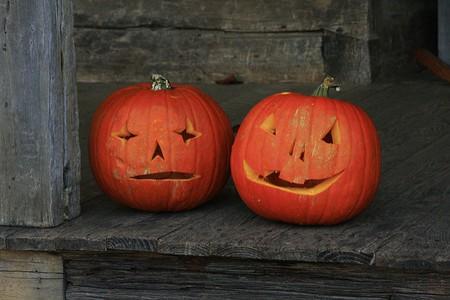 Jack-o'-lanterns bring out the Halloween spirit