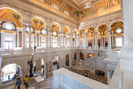Entrance hall ceiling in the Library of Congress, Washington DC