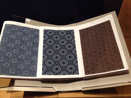 Shweshwe pattern book at the British Museum