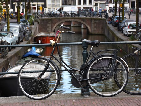 A bike on Amsterdam's canals