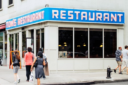 Tom's Restaurant. Its exterior was used as a stand-in for the fictional Monk's Cafe in the popular television sitcom Seinfeld.
