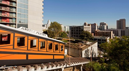 Hop on the vintage Angels Flight Railway funicular for views over Downtown LA