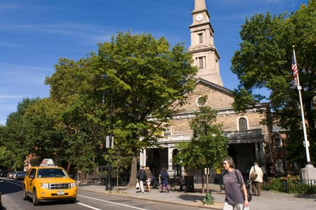 The church of St. Mark's-in-the-Bowery Church in the East Village.