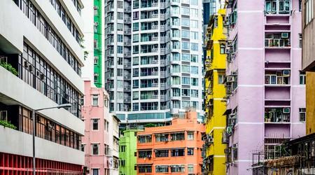 Abstract buildings in Hong Kong
