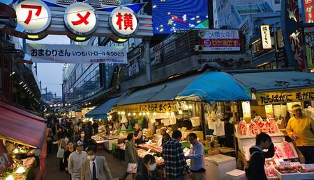 Tokyo's bustling Ameya-yokocho market