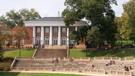 University of Virginia amphitheatre and Minor Hall, Charlottesville, Virginia