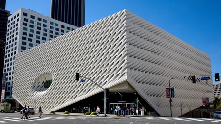 The Broad Museum in downtown Los Angeles, CA