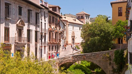 A bridge over the River Darro in Granada