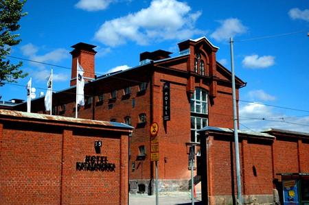 The exterior and former prison walls of Hotel Katajanokka