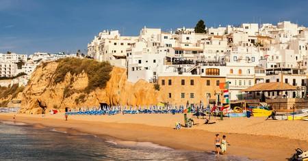 Fisherman's Beach is one of the prettiest spots for sunbathing in Albufeira, on the Algarve