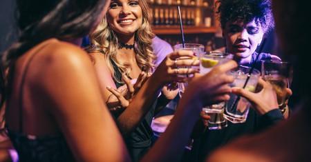 Group of friends having drinks