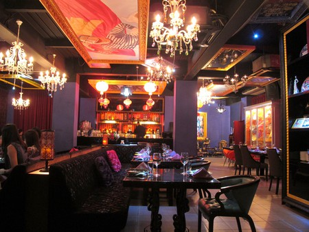 The cosy and classy interior of Chin's Stylish Chinese Cuisine