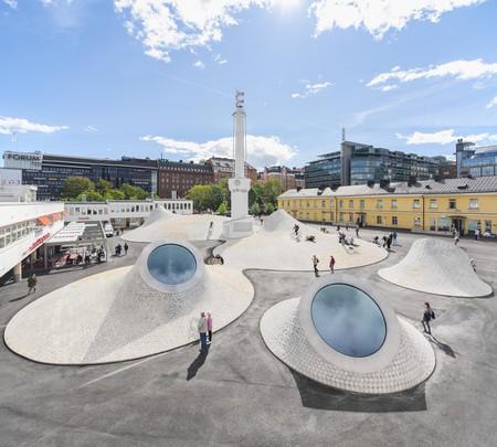 Helsinki's new museum complex Amos Rex.