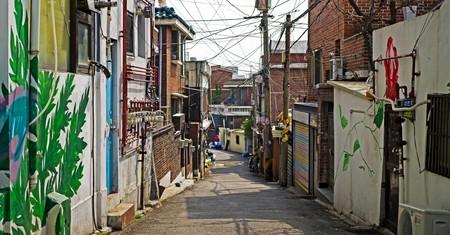 Quiet alley in Itaewon, Seoul
