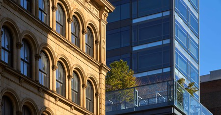 Contrasting facades sit side by side in SoHo