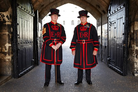 Yeoman warders Peter McGowran (left)  and Bob Loughlin (right)