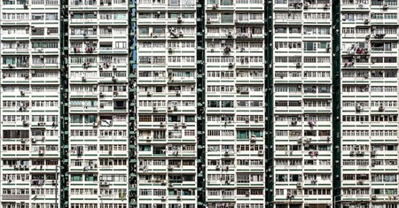 The Man Wah residential building in Jordan, Hong Kong