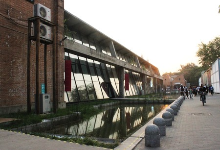 798 Art district zone Pace Beijing which is an ancient factory which is now transformed to an artistic street.