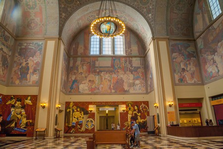 Foyer inside Los Angeles Central Library, Los Angeles, California
