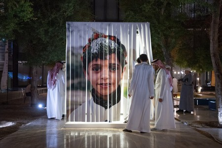 An exhibit at Saudi Design Week