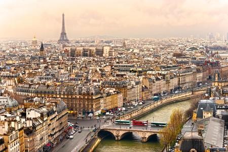 View on Eiffel Tower, Paris, France.