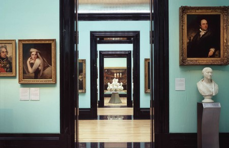 Interiors of National Portrait Gallery in London