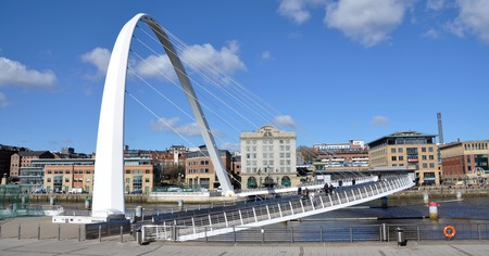 Enjoy a stroll along Newcastle's quayside and across Millennium Bridge