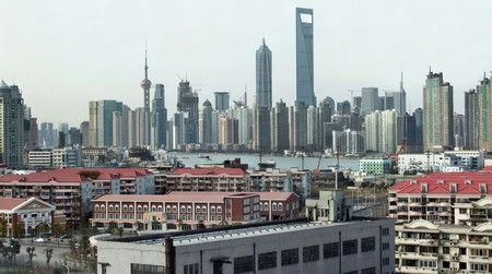 The Shanghai district of Pudong is situated east of the Huangpu River