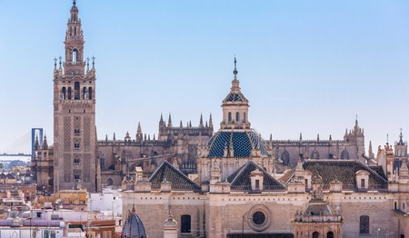 Seville Spain skyline with La Giralda tower