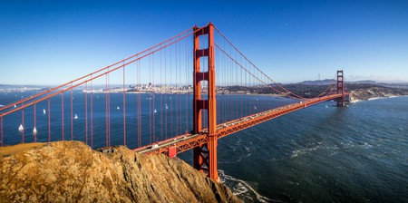The Presidio is located in the heart of San Francisco's lush park at the base of the Golden Gate Bridge