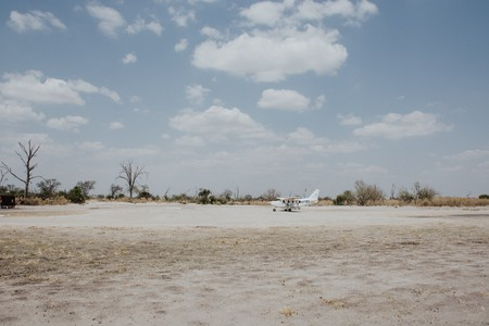 Small planes are used to ferry travellers between African countries