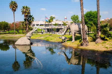 La Brea Tar Pits,Los Angeles, CA, USA