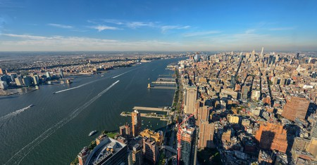 New York City and New Jersey skyline, viewed from FreedomTower.