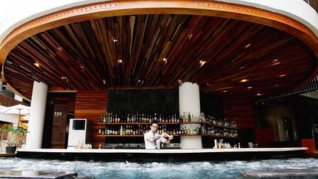 Sip cocktails at Prisma's pool bar