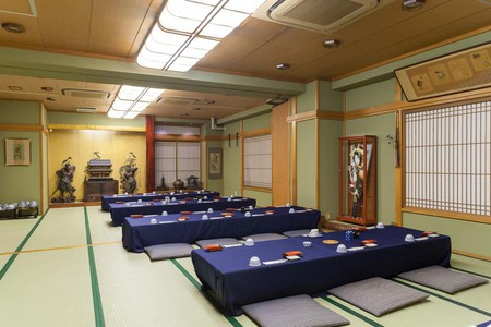 Guests at Sadachiyo are invited to eat in the ryokan'sdining area