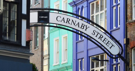 Carnaby Street, in London's Soho, is a major menswear destination
