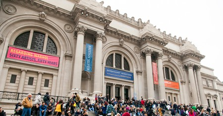 Entrance to the Metropolitan Museum in New York City