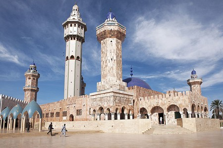 The Mosque of Touba is the destination of the Grand Magal of Touba, an annual pilgrimage