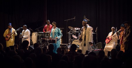 Orchestra Baobab is a multi-piece extravaganza of instruments and musicians