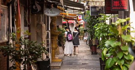Take a walk around the Tianzifang art and shopping district in Shanghai