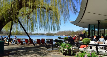 Serpentine Bar & Kitchen in Hyde Park, London, comes with lovely views