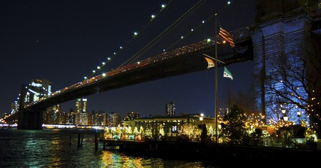 The River Café is perched beneath the Brooklyn Bridge