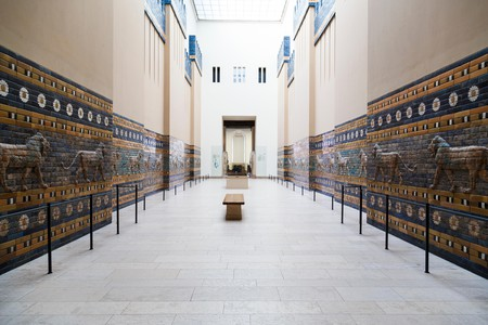 The reconstructed Ishtar Gate of Babylon is on display at Berlin's Pergamon Museum