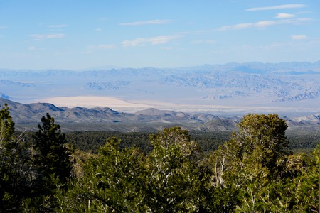 Looking down the mountain at the Nevada Desert from Mount Charleston