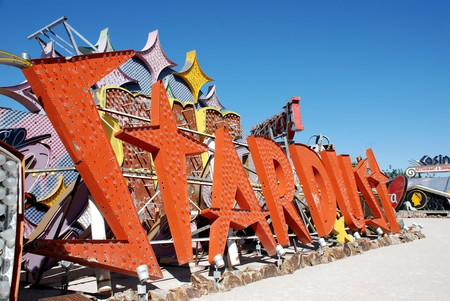 Neon sign from old Stardust casino and hotel in Las Vegas in Neon Musuem