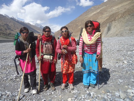 For the majority of these women, the expeditions offer time off from back-breaking tasks like working in the fields