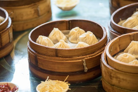 Xiaolongbao, soup dumplings in Shanghai.